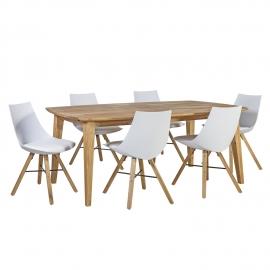 Söögilauakomplekt RETRO 6-tooliga
