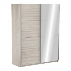 Riidekapp FAST 2 tamm, 153,6x64,7xH203 cm