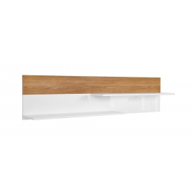 Seinariiul KIOTO tamm / valge, 145x21xH35 cm