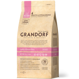 Grandorf Cat - Lammas ja pruun riis 2kg - Kitten