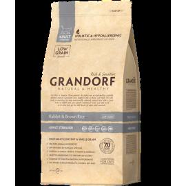 Grandorf Cat - Jäneseliha ja pruun riis 2kg - Adult Sterilised