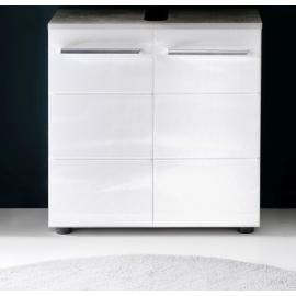 Valamukapp NANO valge kõrgläige / hall, 60x28xH60 cm