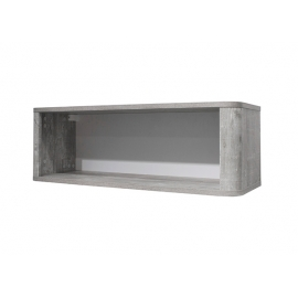 Seinariiul FRIEDA mattvalge / hall puit, 90x32xH31 cm