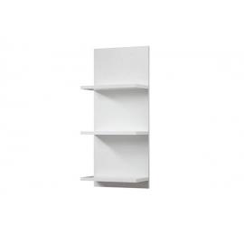 Seinariiul CADIZ tuhkhall / valge, 30x17xH70 cm