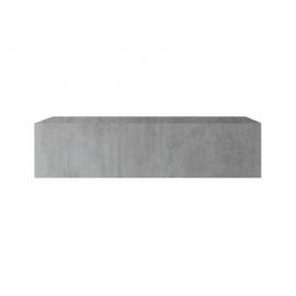 Seinakapp INFINITY betoon, 138x30xH29 cm