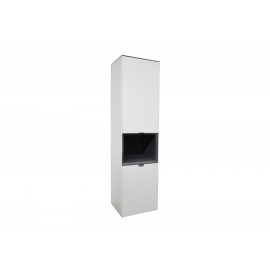 Kapp MICELLI valge / antratsiit, 50x41xH195 cm