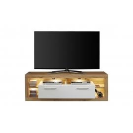 Tv-alus ROCK valge läige / tamm, 150x44xH48 cm