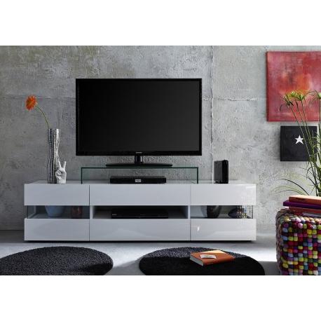 TV-alus Sonic valge LED, 169x43xH43 cm
