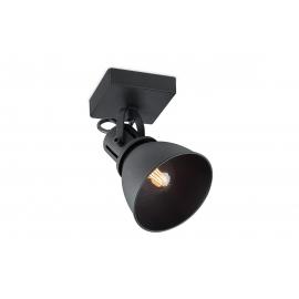 Kohtvalgusti FAMA must, 9,5x9,5xH21 cm, LED