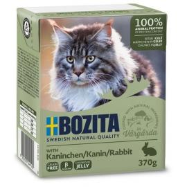 Bozita kassikonserv Rabbit (jäneseliha) in Jelly 16x370g