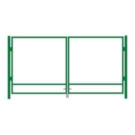 Autovärava raam roheline 400x100cm