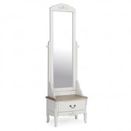 Tualettlaud ELIZABETH peegli ja sahtliga