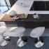 Baaripukk AMIGO-3 45,5x39xH66,5/87,5cm, valge