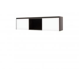 Klaasuksega põrandakapp, hall / valge