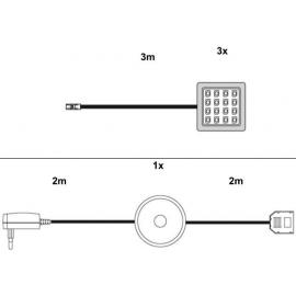 LED-valgustus riiuli alla, 3 tk