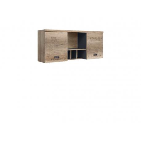 Seinakapp Malcolm, 2 ust ja avatud riiul, tamm