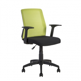 Töötool ALPHA 60x55xH87,5-95cm, must-roheline