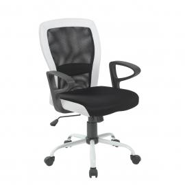 Töötool LENO 60x57xH91-98,5cm, must-valge