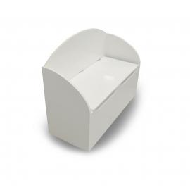 Mänguasjakast Tresor valge, 69,5x29,5xH55,5 cm