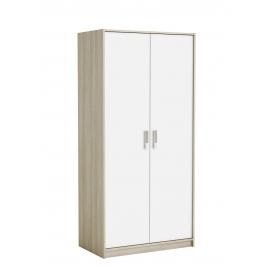 Riidekapp Switch tamm / valge, 88x50,1xH185,5 cm