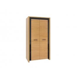 Riidekapp tamm / must, 105x60xH200,5 cm