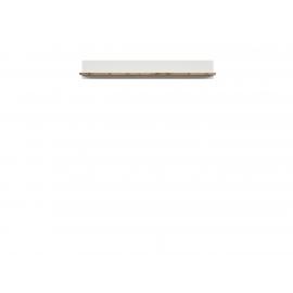 Seinariiul HOLTEN valge / tamm, 156x24xH22 cm