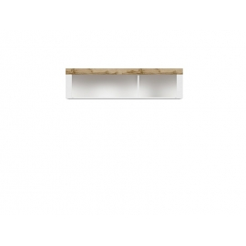 Seinakapp HOLTEN valge / tamm, 156x32,5xH40 cm
