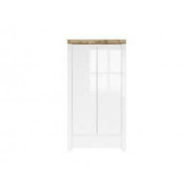 Riidekapp valge / tamm, 106x56,5xH203,5 cm