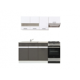 Köögimööbli komplekt JUNONA LINE 170 cm valge / hall