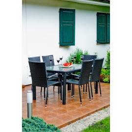 Aiamööbli komplekt Bello Giardino AVVICENTE tumepruun, 6 tooli + laud