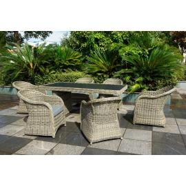 Aiamööbli komplekt Bello Giardino VERO pruun, 6 tooli + laud