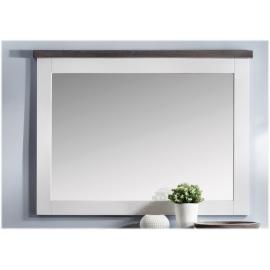Seinapeegel MALIBU valge / pruun, 130x4xH101 cm