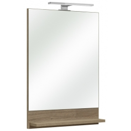 Peegel riiuliga OFFENBACH tamm Sanremo 50x10xH70 cm