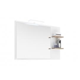 Peegel NOVENTA valge / tamm 100x15,5x74,5 cm