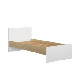 Lastevoodi PRINCETON valge / tamm, 204,5x80,5xH42,5 cm