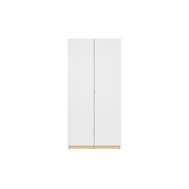 Riidekapp PRINCETON valge läige, 56x100xH206,5 cm