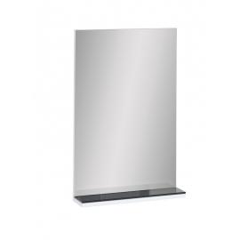 Peegel riiuliga MORIS valge läige / must, 50x13xH79 cm