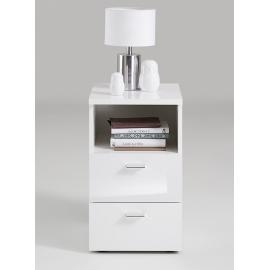 Öökapp COLIMA 1 UP valge kõrgläige, 35x40xH61,5 cm