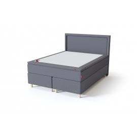Sleepwell BLACK CONTINENTAL kontinentaalvoodi 160x200x54 cm, helehall