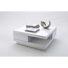 Diivanilaud ABBY valge läige, 85x85xH30 cm