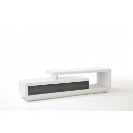 Tv-alus CELIA valge läige / hall, 170x40xH45 cm