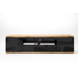 Tv-alus CHIARO must läige / tamm, 202x40xH54 cm