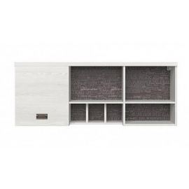Seinariiul NAMUR valge / hall, 120x40xH51 cm