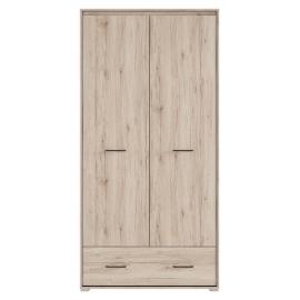Riidekapp RONSE tamm / hall, 97,5x57,5x197 cm