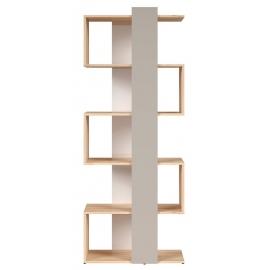Seinariiul NAMEK pöök / hall / valge, 75x38,5xH191 cm