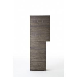 Garderoobipaneel VICENZA tume tamm, 70x29xH190 cm