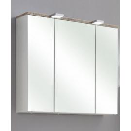 Peegelkapp BURGAS valge läikega, 65x20xH70 cm LED