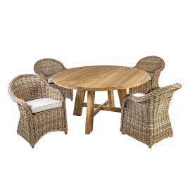Söögilauakomplekt KATALINA 4-tooliga