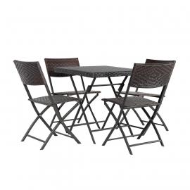 Aiamööbli komplekt NICO laud ja 4 tooli