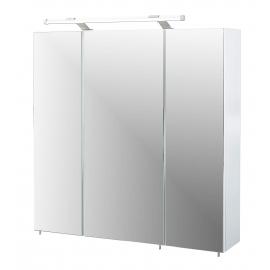 Peegelkapp DORINA valge läige, 70x15,8xH75 cm, LED